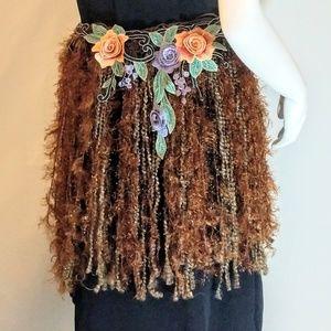 handcrafted Accessories - Brown Fringe Fairy / Festival Belt OOAK